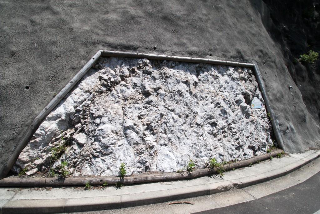 小滝川ヒスイ峡展望台 石灰岩